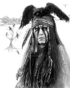 Johnny Depp as Tonto by CezLeo