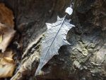 Datura Leaf with Rainbow Moonstone by QuintessentialArts