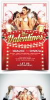 The Valentine Flyer Template by bouzix