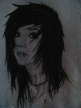 MY FIRST DRAWING OF ANDY SIXX by AnyBk