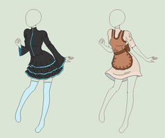 Pixel Outfit Adopts - Sweet Lolita - SOLD by ShadowInkAdopts