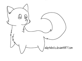 Free Chibi Wolf Pup Lineart by Adoptabelz