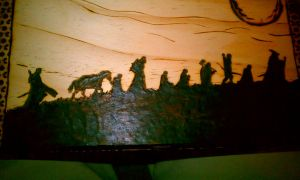 Lord of the Rings Pyrography by BicarC