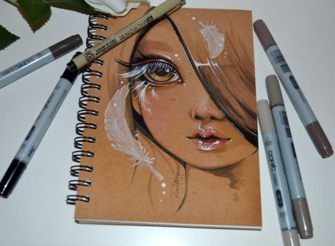 Feather Girl by Lighane