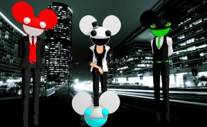MMD Deadmau5 Models +UPDATED LINK+ by Sezfox