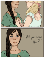 Katniss and Madge by Nani-Mi