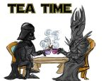 villainous tea time by fiddlinartist
