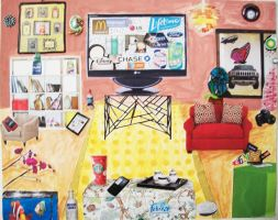 Living Room Collage by xomanderz