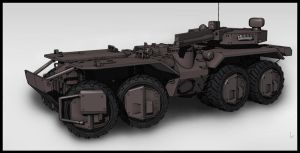 wheeled tank by handfighter