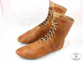 XVth century turn shoes by Hobbit-Leatherworks