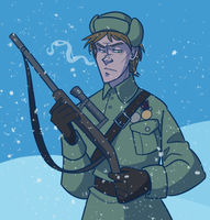Russian sniper by pai-draws