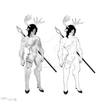 Character Design week 1 part 1 by Xan-Salstone