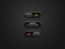 OnOff Sliders PSD by xeloader