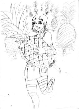 Pineapple Girl by Panchito1989