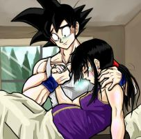 Goku and Chichi- baby on the way by TheBombDiggity666