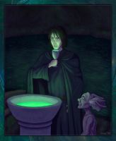 Regulus and Kreacher by Loony-Lucy
