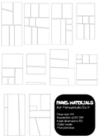 50 PANEL material 4MangaStudio by pinkcamellia