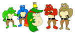 [contest entry] King K. Rool and 4 kremlings by yoshiLover1000
