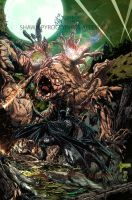 Batman vs Clayface by pyroglyphics1