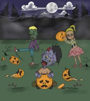 Disappointed Zombies! by Algelis