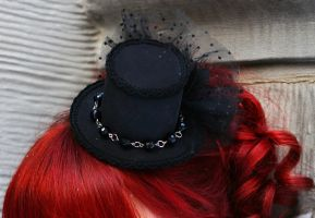 IF: Midnight Lure Mini Hat by A-Little-White-Lie