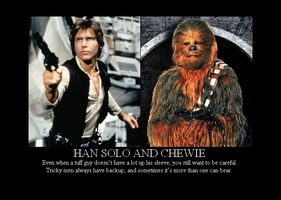 Han Solo and Chewie by Winter-Phantom