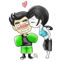 Little Mac X Wii Fit Trainer by reikomiyakami