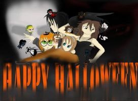 Happy CreepyPasta Halloween by FridaPearlie