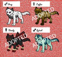 Wolf Adoptables 4 by 32d