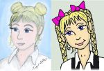 Two Styles of Melian Portrait Compared by MelianOfMist