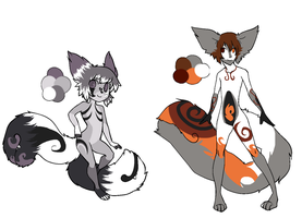 Tailmouth adopts (Im keeping #1!) by dragonsweater