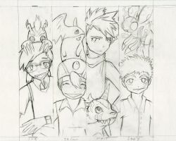 Bookmark sketches:Digimon by Winged-Evil