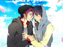 Stay by my side, okay? [Rinharu] by Daniimon