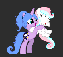 SparkleMoon and AngelCutie - Collab by iPandacakes