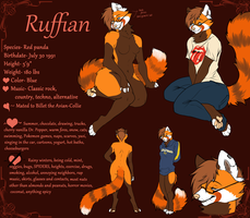 My fursona ref 2014 by LifelessRiot