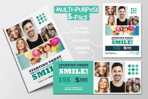 Multi-purpose Brochure, Poster and Facebook Cover by PrintDesign