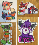 Badge Commissions, Batch 1 by strawberryneko33