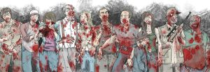 Walking Dead cast - undead - color by KyleIAM
