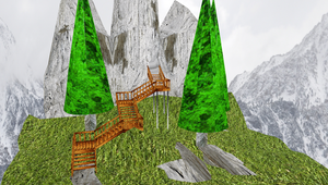 MMD Stairs Stage by mbarnesMMD