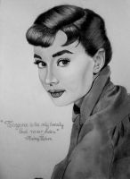 Audrey Hepburn by Thessa-drawings