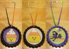 Kawaii Halloween and Autumn Necklace - Tri-Colored by Monostache