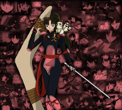 Fave anime/manga Women #13: Sango collage by GalacticKitten