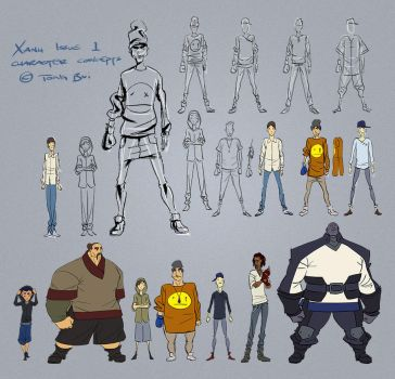 Xanh Issue 1 Characters by Tongman