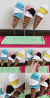 ice cream cones by hellohappycrafts