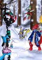 Playing in a Winter Wonder Land. by TheHummingInker