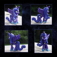 My Little Pony Princess Luna Mini Custom by kaizerin