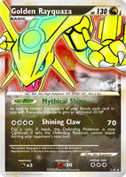 Golden Rayquaza by autobotchari