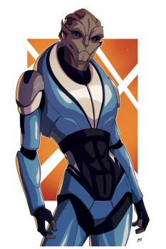 OC Mirage (Mass Effect) Commission by Mro16