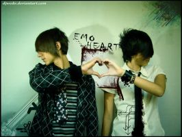 Emo Heart by djwedo