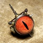 Beholder Steampunk Tie Tack by CatherinetteRings